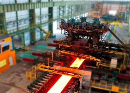 تولید ورق های فولادی در کارخانه فولاد اکسین خوزستان