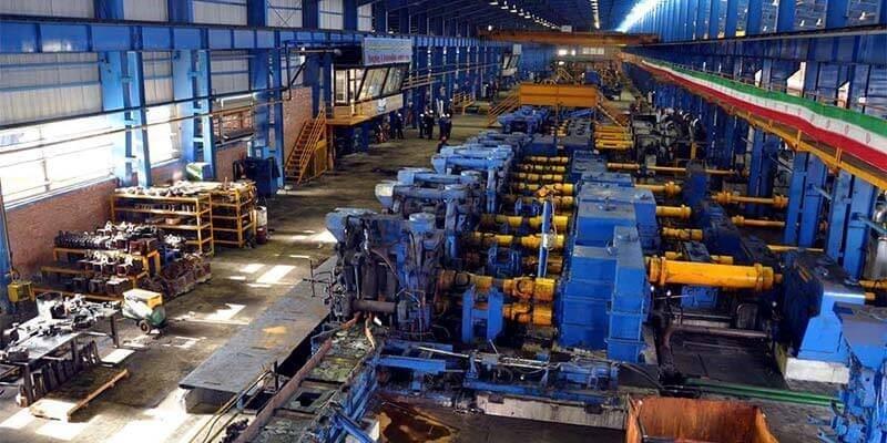 خط تولید کارخانه فولاد نطنز
