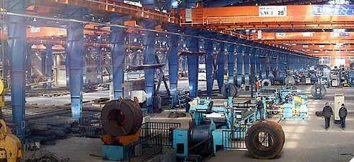 محصولات کارخانه فولاد هیربد زرندیه